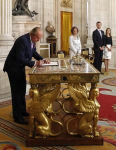 King Juan Carlos, Queen Sofia, Prince Felipe and Princess Letizia