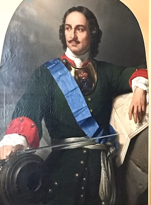 Peter the Great in one of his military uniforms