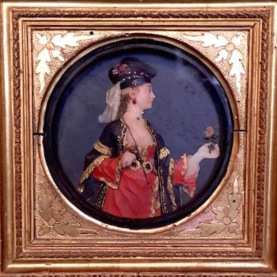 wax minature portraits
